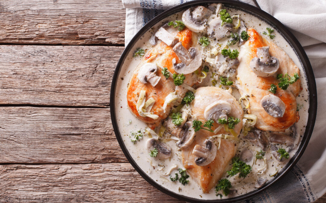 Creamy Mushroom, Bacon and Thyme Chicken